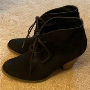 Mia Suede Lace Up Booties